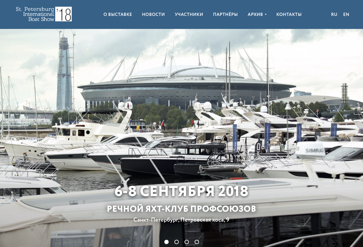 St.Petersburg International Boat Show 2018